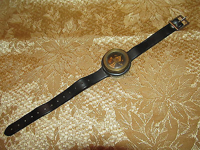 Vintage Brass Compass Rubber band West Germany !!