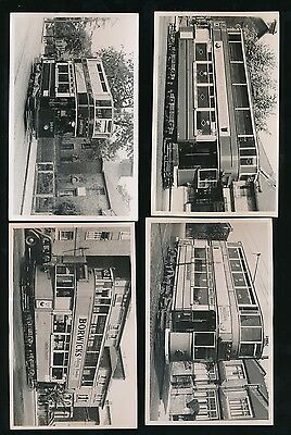 LONDON + SOUTH c1920-40 TRAMS + STREETS 4 CARDS REAL PHOTO