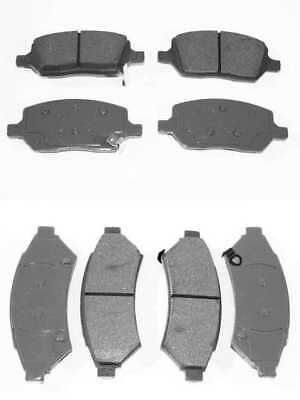 Complete Set of Front and Rear Ceramic Brake Pads with Lifetime Warranty