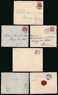 Gb 1904 Diplomatic + French Consular Envelopes + Seal...3 Items