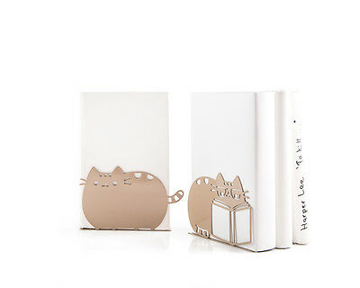 Atelier Article - Gift Steel bookends - Reading cats (Brown)