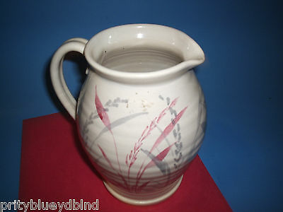 Vintage Country Style Stoneware Milk Juice Pitcher Texture & Colors Beautifull