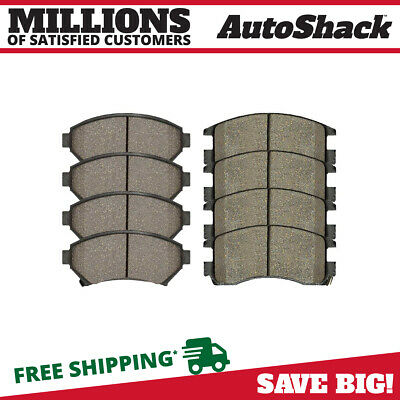 8 Front & Rear Ceramic Brake Pads fits Buick Cadillac Chevy Oldsmobile Pontiac