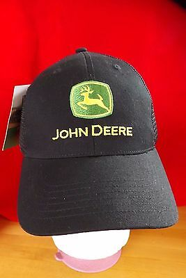 John Deere New Black/Green/Yellow Hat Cap One Size