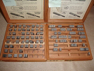 Kingsley Stamping Machine 32 Point BRUSH Monogram Upper Case and Lower Case