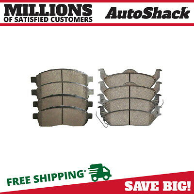 Front and Rear Ceramic Brake Pads for 2004-2009 Ford F-150 2006-2008 Mark LT