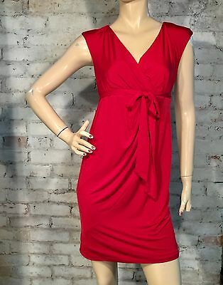 Jessica Simpson Dress Small S Maternity Empire Wrap Tie Sleeveless Red New