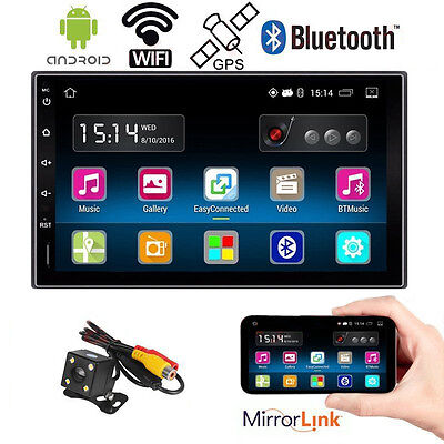 Android 5.1 Car Multimedia Radio Stereo Player In Dash GPS Nav WIFI Auto +Camera