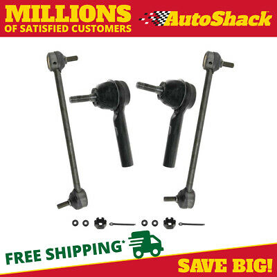 New 2 Front Sway Bars Links and 2 Outer Tie Rod Ends fits Chrysler Dodge Jeep
