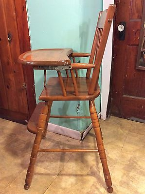 Vintage Wooden Oak Hill High Chair Seat ... Pick up FREE