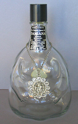 1969 Large Guaycura  Damiana Mexico Pregnant Woman Decanter Bottle Zodiac Medal
