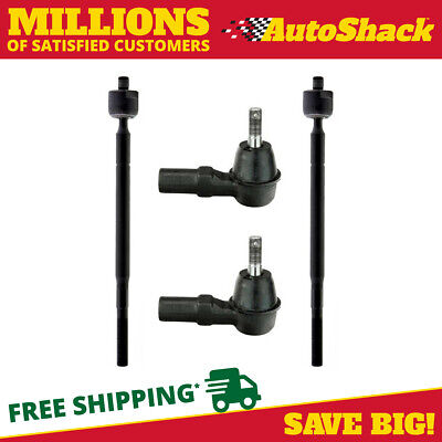 Set (4) of Front Inner and Outer Tie Rod Ends