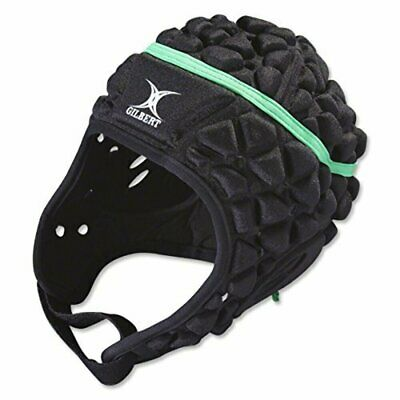 Gilbert Xact Rugby Headgear - BLACK + FREE AUS DELIVERY