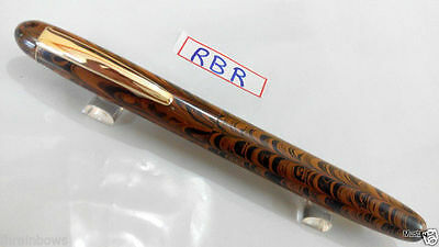 Large Rount Top Handmade HandCrafted Ebonite EyeDropper Fountain Pen 148mm RBR