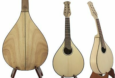Handcrafted Flat back Mandolin KIT Solid Spruce-Mahogany with Accessories 06-08#