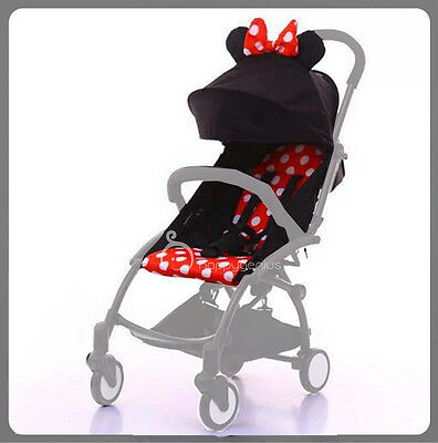 Mickey - Canopy Hood Seat Pad Cushion Liner Set For Compact yoyo Stroller
