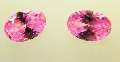 Cubic Zirconia Oval Cut Pink Colour 7 x 5mm Excellent Quality Pack of 2