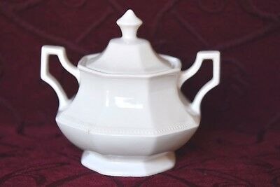 Johnson Bros - Covered Sugar Bowl - Heritage White