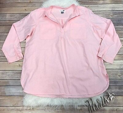 OLD NAVY Top Shirt Blouse Ligt Pink Long Sleeve Tunic WOMEN'S Size XXL