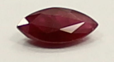 Stunning Marquise Cut .32 Carat Red Ruby