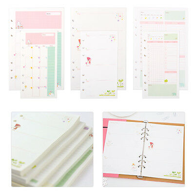 A5/A6 Daily Monthly Weekly Ruled Planner Diary Insert Refill Schedule Organiser