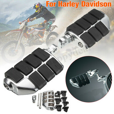 Chrome Motorcycle Bullet Foot Pegs Foot Rests For Harley Curiser Chopper Custom