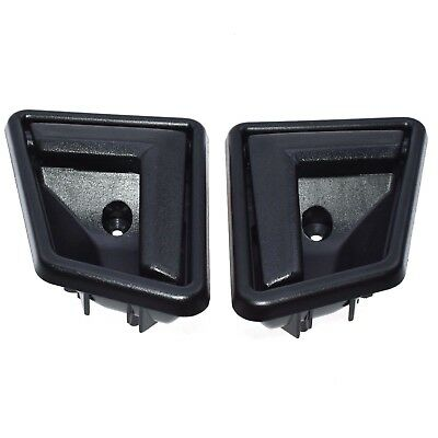 Black Front Rear Interior Door Handle Pair for 89-98 Suzuki Sidekick NEW