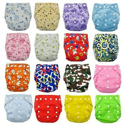 Baby Water-proof Adjustable Size Printed Cloth Diapers Reusable Nappy Covers New