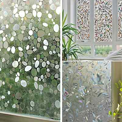 Static Cling Cover Window Film Glass Privacy Sunscreen Sticker Pebble Home Decor