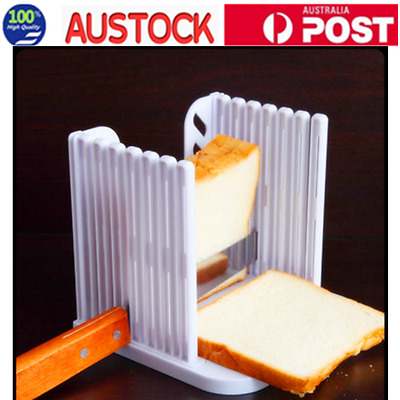New Bread Toast Sandwich Slicer Cutter Mold Maker Kitchen Guide Slicing Tools AU