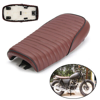 UK Vintage Brown Cafe Racer Motorcycle Seat Hump Saddle Cover For Honda CG125