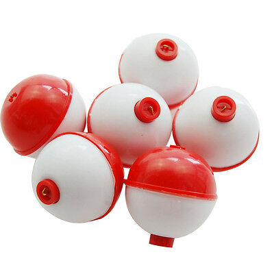 "10/20Pcs 1"" 2"" Fishing Bobber Snap-on Round Push Button Fishing Float Set tackle"