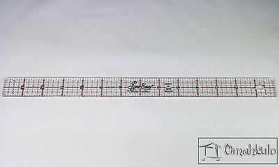 "SEW EASY - Patchwork Quilting Template Ruler 14"" x 1"" - Clear Acrylic -*"