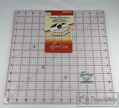 """SEW EASY -Square Patchwork Quilt Template Ruler 12.5"""" x 12.5"""" - Clear Acrylic -*"""