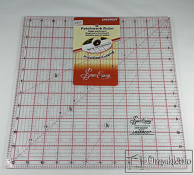 "SEW EASY - Square Patchwork Quilt Template Ruler 12.5"" x 12.5"" - Clear Acrylic"