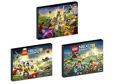 3 x LEGO NEXO KNIGHTS CANVAS ART BLOCKS/ WALL ART PLAQUES/PICTURES