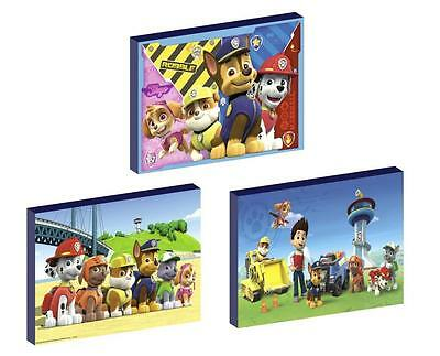 3 x PAW PATROL set d CANVAS ART BLOCKS/ WALL ART PLAQUES/PICTURES