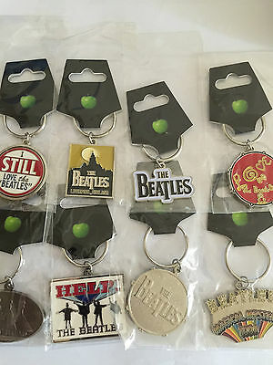The Beatles Metal Keyrings New
