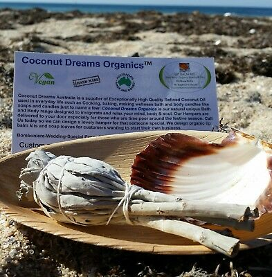 White Sage Smudge Shell Kit Ritual Cleansing Psychic Incense Gift idea