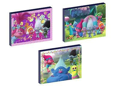 3 x TROLLS CANVAS ART BLOCKS/ WALL ART PLAQUES/PICTURES