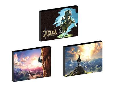 3 x ZELDA BREATH OF THE WILD CANVAS ART BLOCKS/ WALL ART PLAQUES/PICTURES