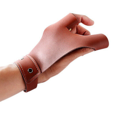 New 2 Fingers Cow Leather Archery Bow Gloves Tip Protector Left Hand for Hunting