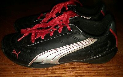 Boys Size 1 Black Puma Shoes