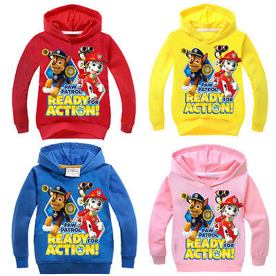 Kids Paw Patrol Hoodie Sweater Hooded Jumper Top Sweatshirt  Boys Thin Age 2-10Y