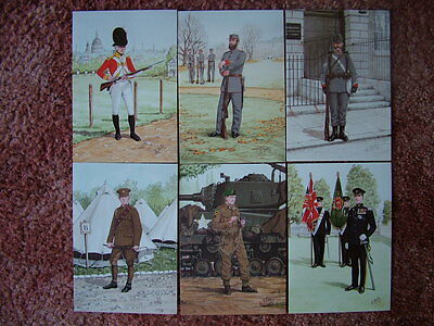 6 Card Set No 21 Military Postcards THE INNS OF COURT REGIMENT. Mint condition.