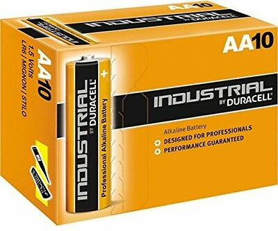 10x Duracell 9V Industrial Battery PP3 MN1604 Alkaline Block batteries procell