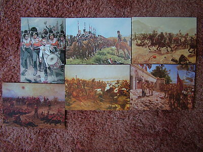 6 Card Set No 14 Postcards MILITARY PAINTINGS OF RICHARD WOODVILLE. Mint cond.