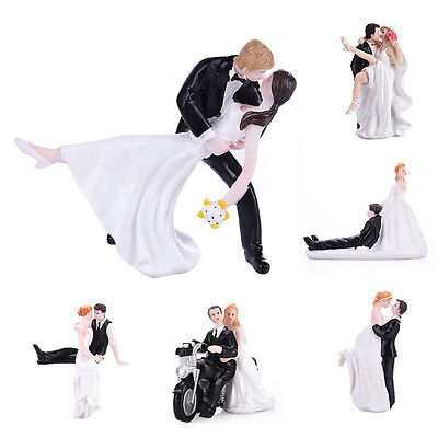 Romantic Resin Bride & Groom Wedding Cake Topper Craft Figurine Decoration Gift