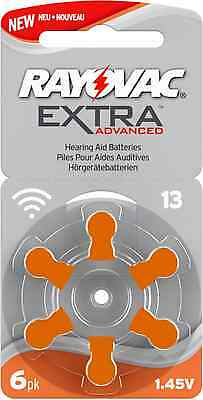 NEW Rayovac Extra Mercury Free Hearing Aid Batteries, Size 13 (Orange)