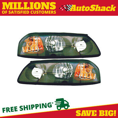 New Pair of Left and Right Headlight Assemblies fits 2000-2004 Chevrolet Impala